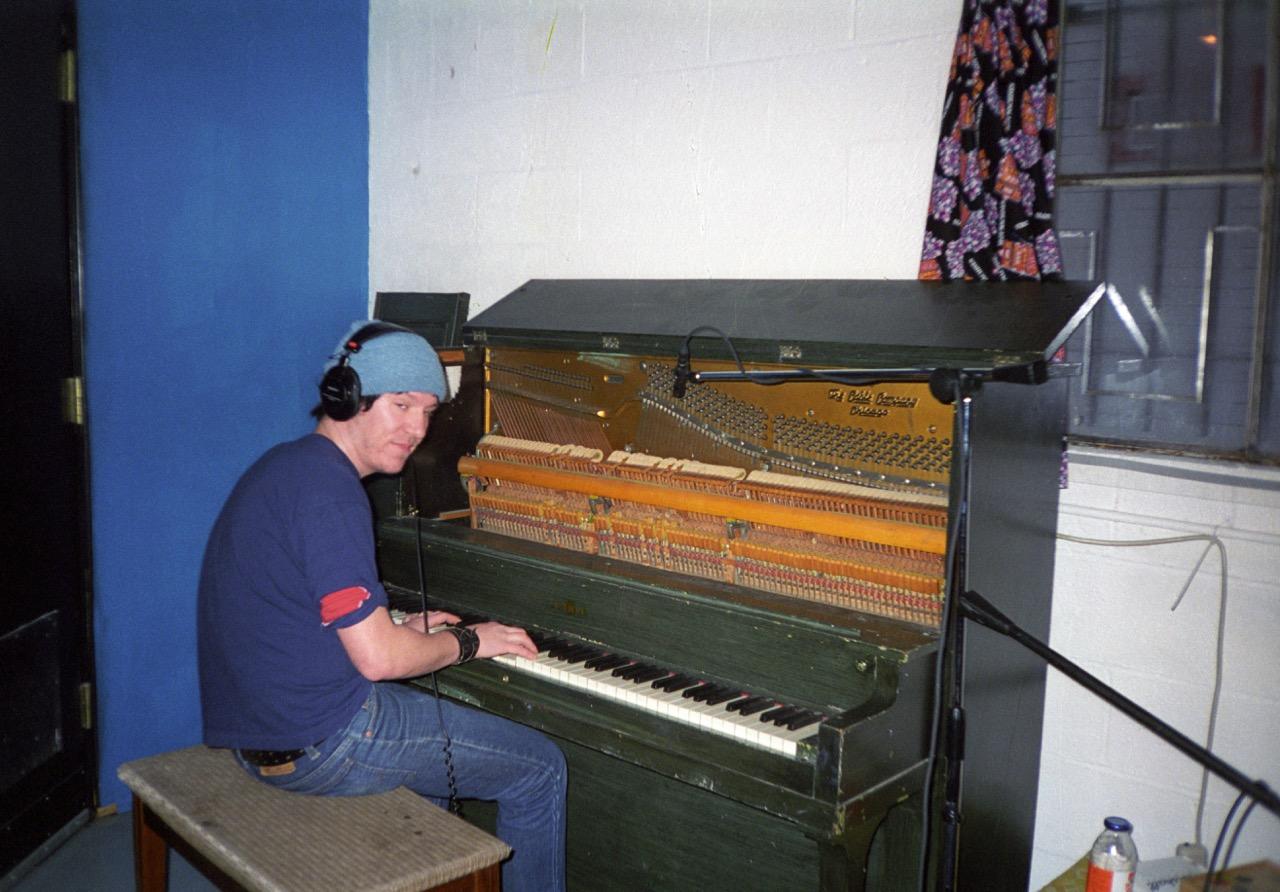 Elliott at piano Baby Britain 1997